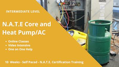 Intermediate HVAC training is available. HVAC Training Online