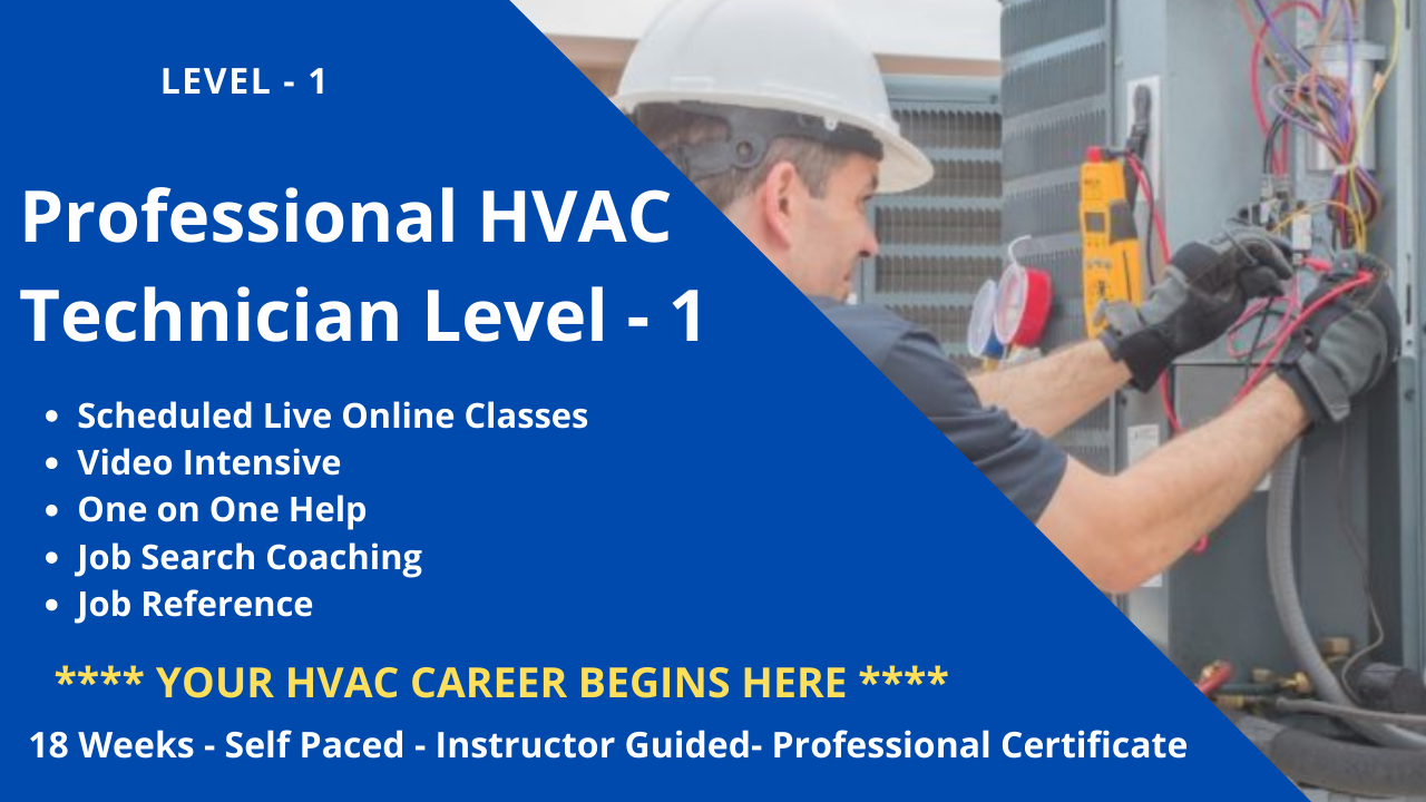 Learn air conditioning with us. We will teach you how to get your HVAC certification